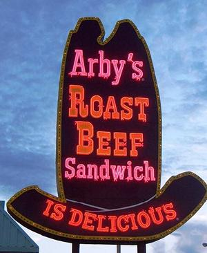 Arby's Roast Beef Sign